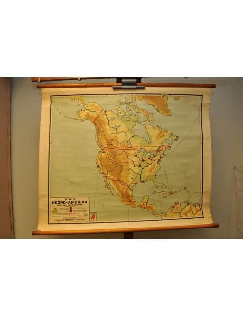 Vintage kaart N-Amerika 1