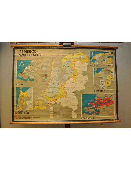 Vintage kaart Nederland 11